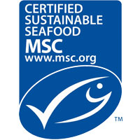 Certified Sustainable seafood MSC
